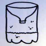 A diagram of a bee trap